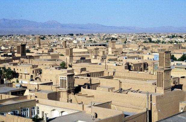 View to Yazd town. Iran.