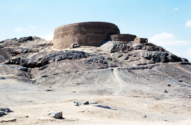 Tower of Silence - place where Zoroastrian buried their dead people. Yazd. Iran.