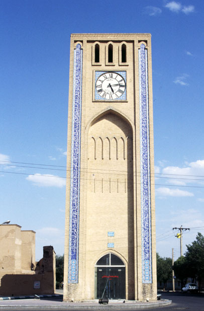 Clocktower. Yazd twon. Iran.
