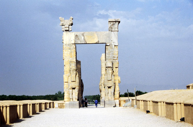 Xerxes' Gateway (Gate of All Nations). Persepolis. Iran.