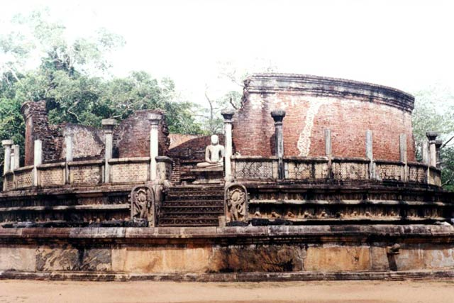 The remains of the ancient city of Polonnaruwa, dates from the reign of the Indian Chola dynasty in the 11th and 12th century. Sri Lanka.