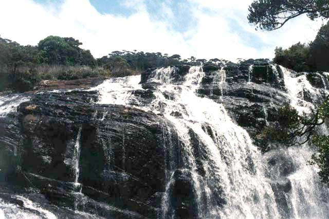 Waterfall, Horton Plains national park. Sri Lanka.