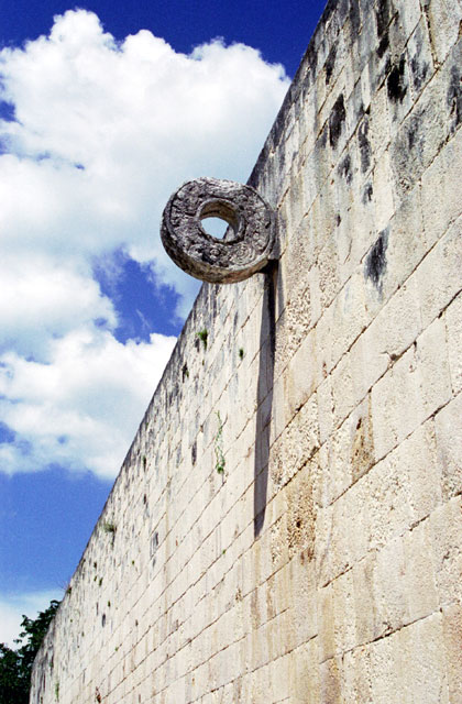 The Ball Court at Chichen Itza was built 900-1100 A.D. in Maya Toltec Architectural Style. Mexico.