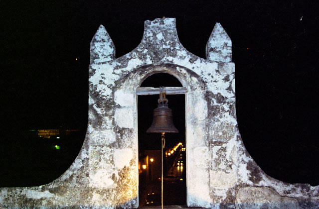 Bell at Puerta de Tierra. Campeche city. Mexico.