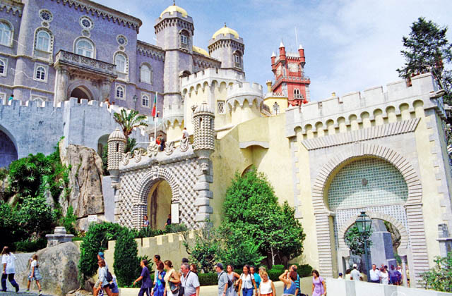 The National Palace of Pena, Sintra. Portugal.