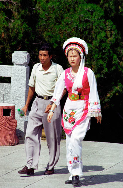 Traditional clothes around Dali town. China.