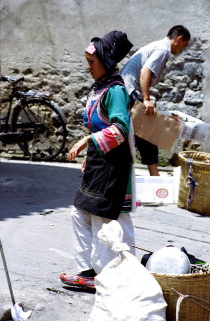 Woman from hill tribe at Dali market. China.