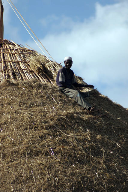 Building the house, on the way to Hosaina. South,  Ethiopia.
