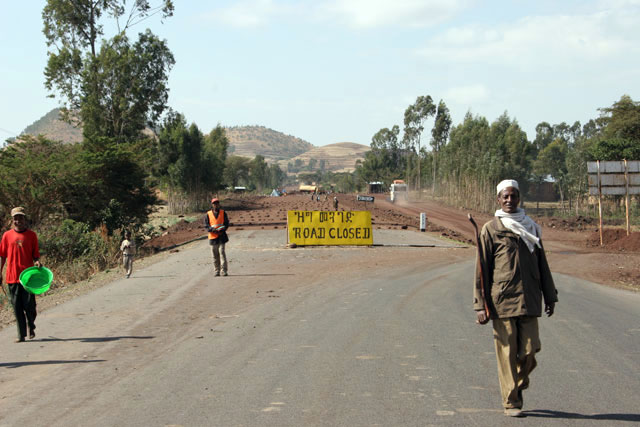 Road south from Addis Abbeba. South,  Ethiopia.