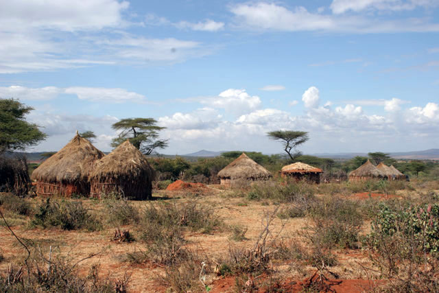 Village, around Jinka. South,  Ethiopia.