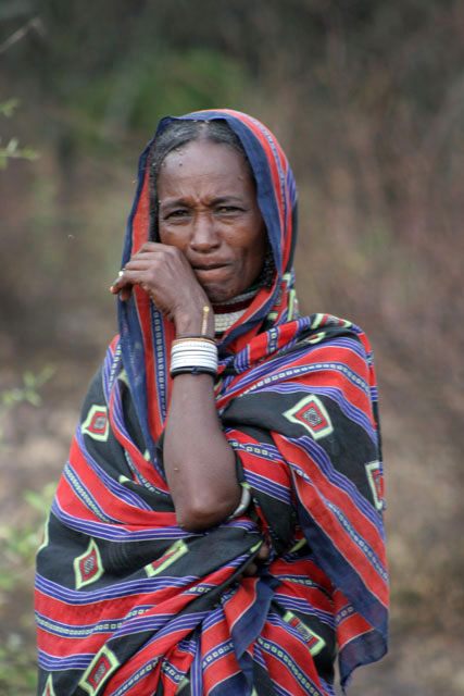 Local woman, around Jinka. South,  Ethiopia.