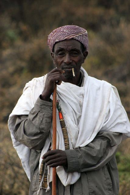 Local man, around Jinka. South,  Ethiopia.