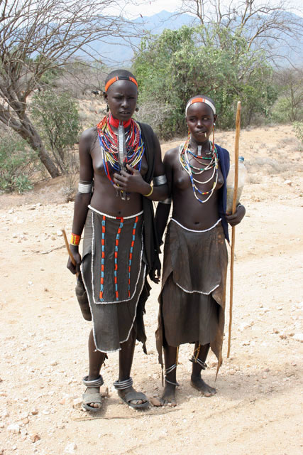 Tsamai women, around Key Afer. South,  Ethiopia.