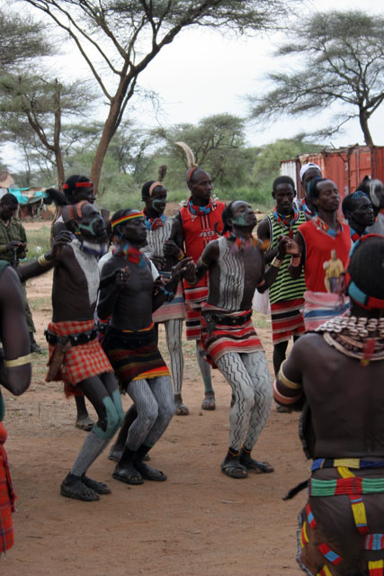Hamar dance, Turmi. South,  Ethiopia.