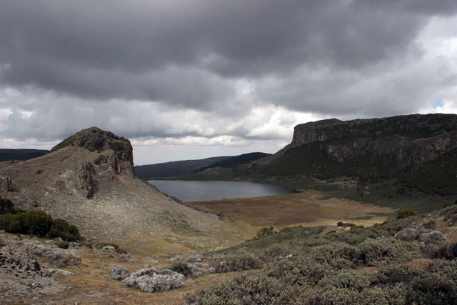 Garba Guracha lake. Bale Mountain National Park. South,  Ethiopia.