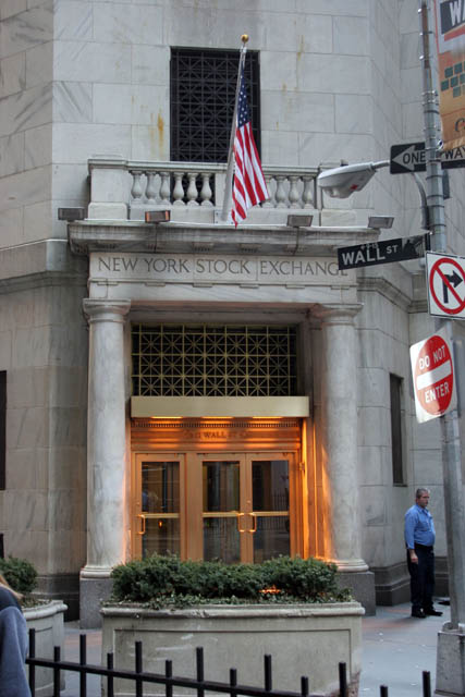 New York Stock Exchange. United States of America.
