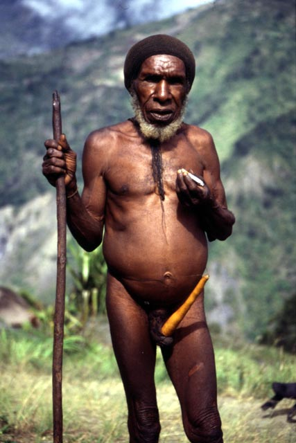 Villager from Dani tribe. Papua,  Indonesia.