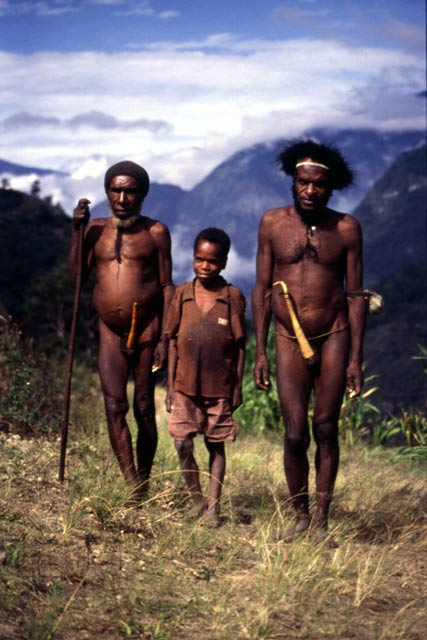 Villagers from Dani tribe. Papua,  Indonesia.