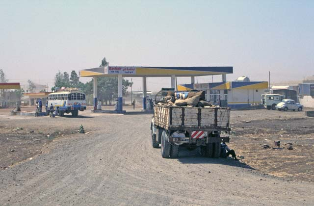 Petrol station near bus station. Gedaref town. Sudan.