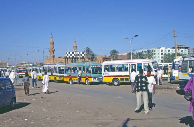 Local bus station called Arabi. Khartoum (Central). Sudan.