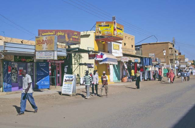 Street at Omdurman. Khartoum (Omdurman). Sudan.