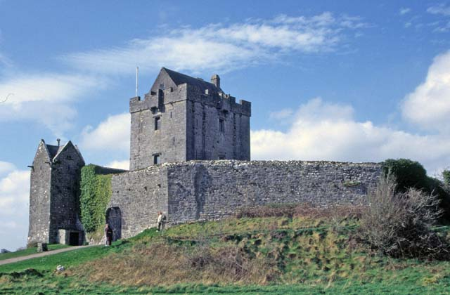 Castle on the west coast. Ireland.