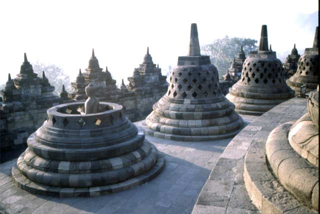 Borobudur temple. Java,  Indonesia.