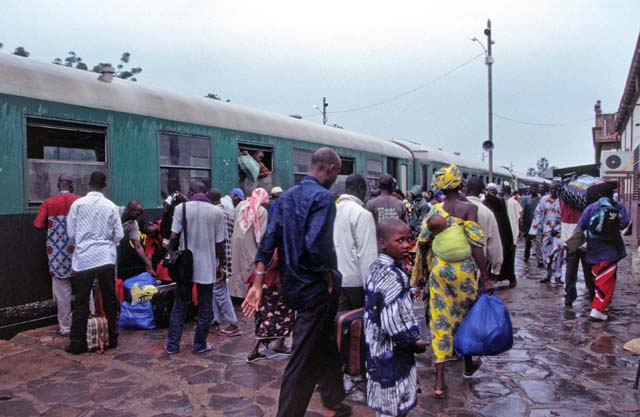 Train is at final station - Bamako. Mali.