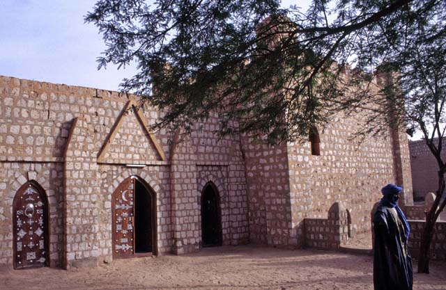 Traditional building (now museum) at town Timbuktu (Tombouctou). Mali.