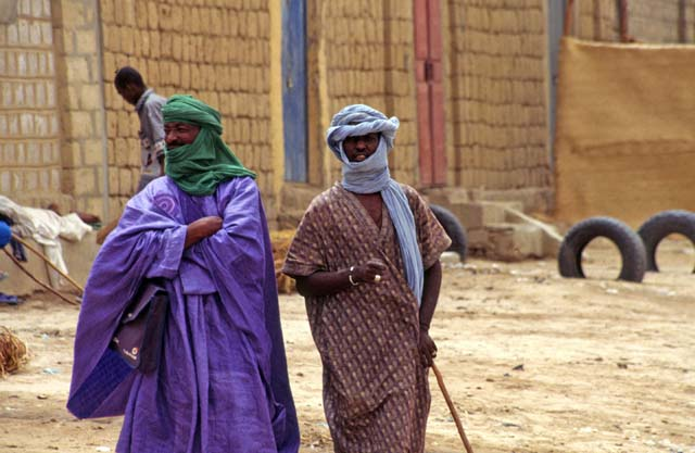 Tuaregs - people from desert. Timbuktu (Tombouctou) town. Mali.