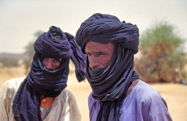 Tuaregs - people from desert. Sahara desert. Mali.