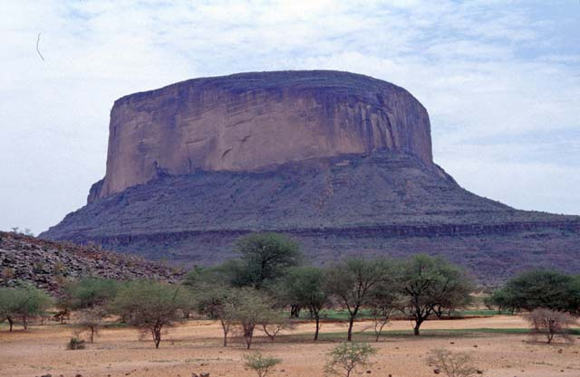Mountain Hombori Tondo near Hombori village. Mali.
