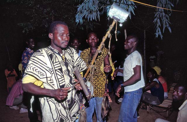 Music production of Bambara people. Mali.