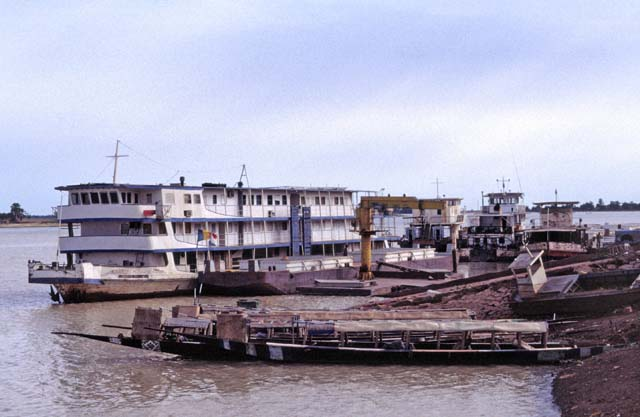 Port at Niger river at Mopti city. Mali.