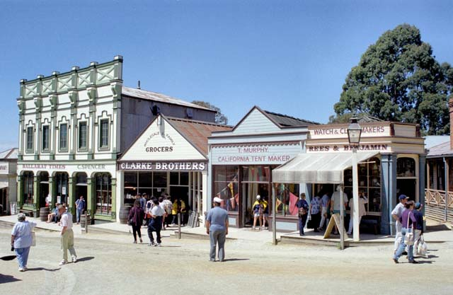 Ballarat - old gold mining village and today museum. Australia.