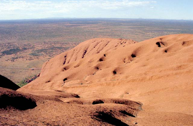 View from the top of the Ayers Rock (Uluru). Australia.