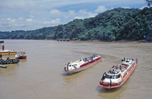 Kapit town can be reached only by Rejang river. Sarawak,  Malaysia.