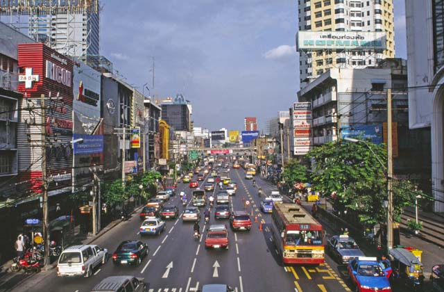 Traffic at street at Bangkok. Thailand.