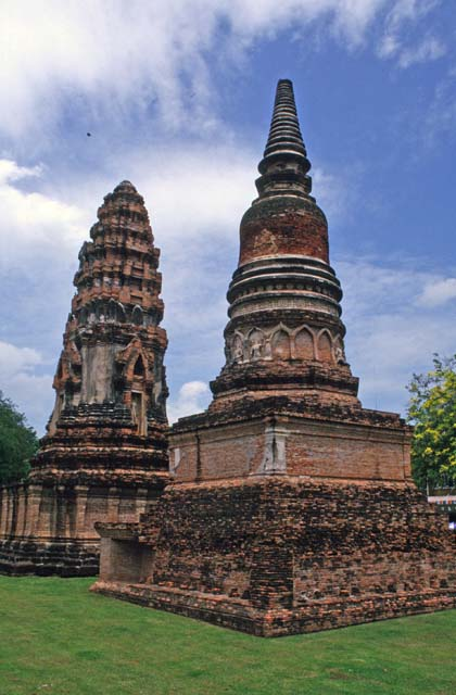Old khmer-style ruins at Lopburi town. Thailand.