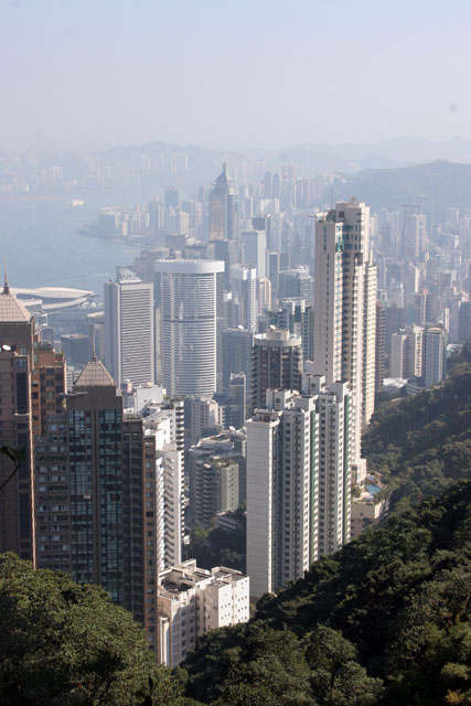 View from Victoria Peak. Hong Kong.