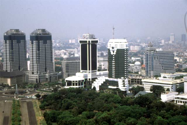 View from the monument, Jakarta. Java,  Indonesia.
