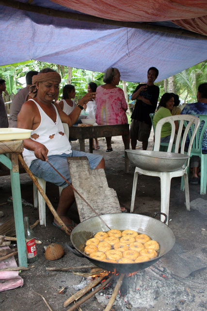Donuts with sugar. Malapascua. Philippines.