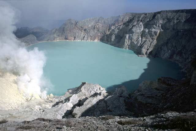 Kawah Ijen Vulcano. Java,  Indonesia.