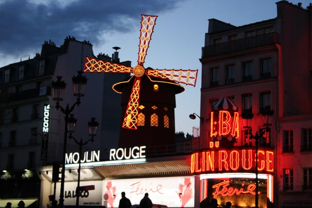 Cabaret Moulin Rouge at Montmartre, Paris. France.