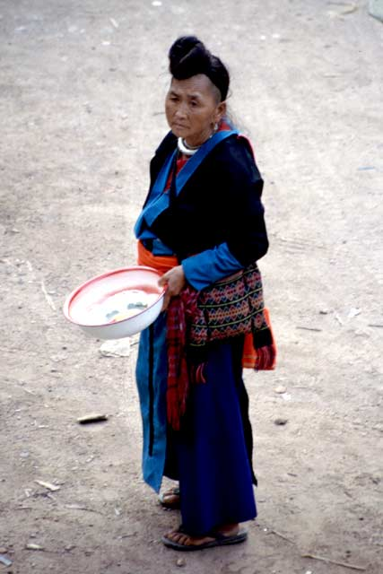 Woman from Hmong tribe. Pakbeng village. Laos.