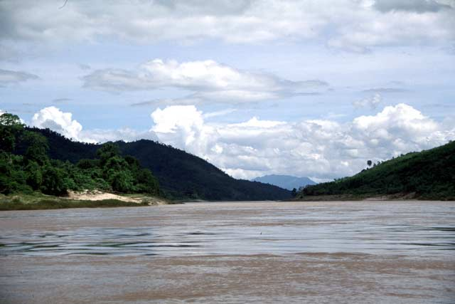 Mekong river in north Laos. Laos.