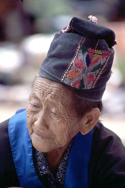 Woman from Hmong tribe. Luang Prabang. Laos.
