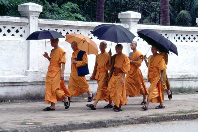 Monks. Laos.