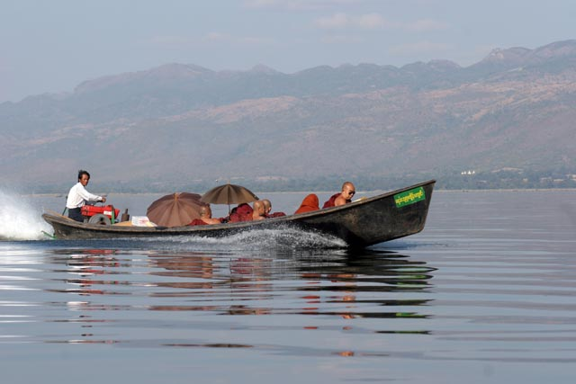 Water transport. Inle Lake. Myanmar (Burma).