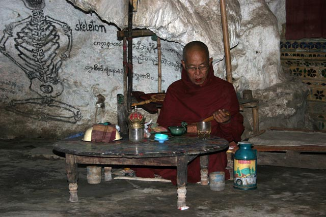 Monk at his cave. Villages around Inle Lake. Myanmar (Burma).